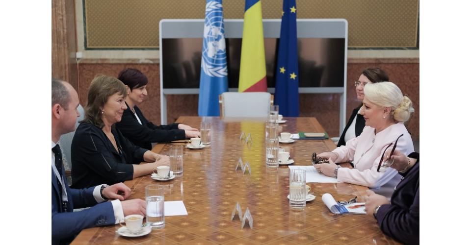 Întrevederea prim-ministrului României, Viorica Dăncilă, cu Secretarul Executiv al UNECE(...)