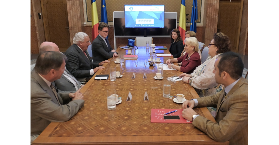 Prime Minister Viorica Dăncilă meets at Victoria Palace with the Chairman of the EUROPALIA(...)