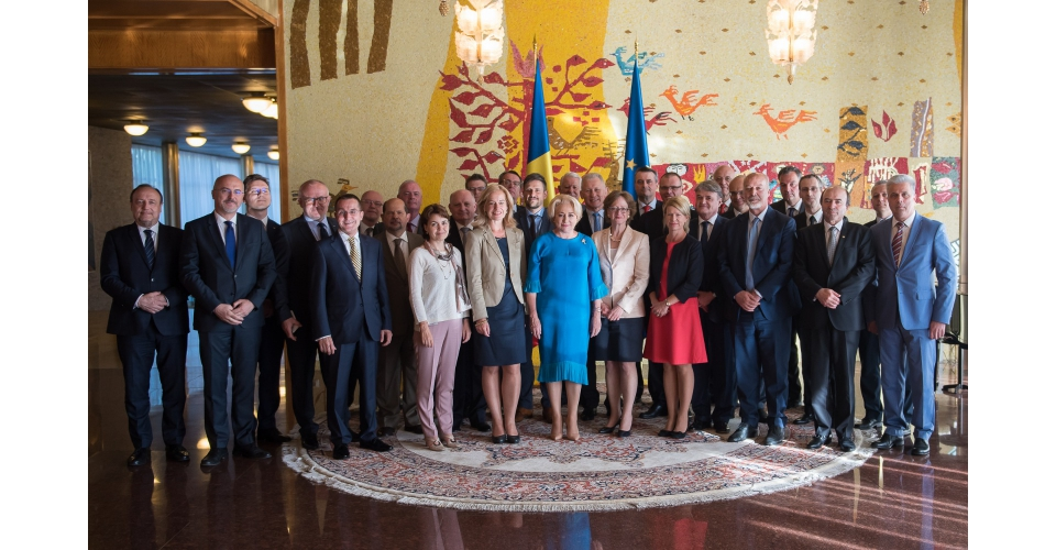 Prime Minister Viorica Dancila attends a meeting of the Heads of diplomatic missions of EU Member(...)