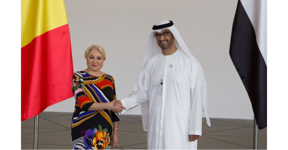 PM Viorica Dăncilă meets with H.E. Dr. SULTAN AL JABER, Minister of State, CEO of ADNOC Group