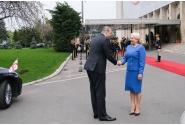 Întâmpinarea prim-ministrului Georgiei, Mamuka Bakhtadze, de către prim-ministrul Viorica Dăncilă