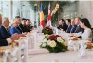 Prânz de lucru oferit de prim-ministrul Viorica Dăncilă în onoarea prim-ministrului Georgiei, Mamuka Bakhtadze