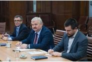 Întâlnirea vicepremierului Marcel Ciolacu cu secretarul de stat în domeniul culturii din Republica Moldova, Andrei Chistol și cu Secretarul General, Igov Șarov