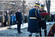 Participare la ceremonia depunerii de coroane și jerbe de flori, la Statuia domnitorului Alexandru Ioan Cuza, cu prilejul Zilei Unirii Principatelor Române