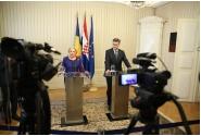 Declarații de presă comune susținute de premierul Viorica Dăncilă și omologul croat, Andrej Plenković