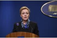 Briefing de presă susținut de ministrul Afacerilor Interne, Carmen Dan,  ministrul Apărării Naționale, Gabriel Leș, și purtătorul de cuvânt al Executivului, Alina Petrescu, la finalul ședinței de guvern