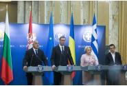 Declarații comune de presă susținute de prim-ministrul României, Viorica Dăncilă, prim-ministrul Republicii Elene, Alexis Tsipras, prim-ministrul Republicii Bulgaria, Boiko Borisov, și de preşedintele Republicii Serbia, Aleksandar Vučić