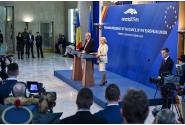 Conferință de presă comună a premierului Viorica Dăncilă și președintelui Comisiei Europene, Jean-Claude Juncker (FOTO:AGERPRES)