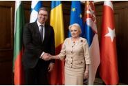 Întâmpinarea președintelui Serbiei, Aleksandar Vučić