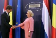 Întrevederea prim-ministrului României, Viorica Dăncilă, cu prim-ministrul Regatului Ţărilor de Jos, Mark Rutte