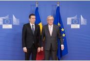 Premierul Sorin Grindeanu s-a întâlnit cu președintele Comisiei Europene, Jean-Claude Juncker