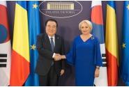 Întrevederea prim-ministrului României, doamna Viorica Dăncilă, cu președintele Adunării Parlamentare a Republicii Coreea, domnul Moon Hee-sang