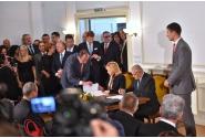 Semnarea documentelor bilaterale în prezența celor doi premieri