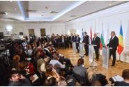 Declarații de presă comune susținute de prim-ministrul Mihai Tudose cu omologii bulgar, Boiko Borisov, și grec, Alexis Tsipras, și de președintele sârb, Aleksandar Vučić
