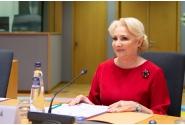 Prime Minister Viorica Dăncilă attends the Tripartite Social Summit