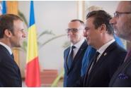 Întrevederea premierului Mihai Tudose cu președintele Republicii Franceze, Emmanuel Macron