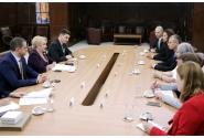 Primirea ministrului israelian al turismului, Yariv Levin, de către prim-ministrul Viorica Dăncilă, la Palatul Victoria