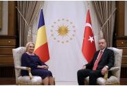 Întrevederea tête-à-tête a premierului Viorica Dăncilă cu președintele Turciei, Recep Tayyip Erdoğan