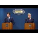 Déclarations de presse du Premier ministre Sorin Grindeanu et du minsitre de la Justice, M. Florin Iordache, à la fin de la réunion du Gouvernement