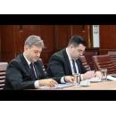 Întâlnirea premierului Sorin Grindeanu cu Alexandru-Răzvan Cuc, ministrul Transporturilor, și cu Eugen Davidoiu, Director General Tarom