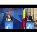 Conferință de presă comună susținută de premierul Sorin Grindeanu, prim-vicepreședintele Comisiei Europene, Frans Timmermans, și ministrul Justiției, Tudorel Toader