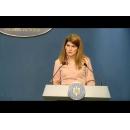 Briefing de presă susţinut de purtătorul de cuvânt al guvernului, Alina Petrescu, la finalul şedinţei de guvern