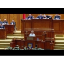 Prime Minister Viorica Dăncilă attends the solemn session of Parliament dedicated to the 100th anniversary of Bessarabia's Union with Romania