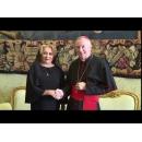 Prime Minister Viorica Dancila meets with Cardinal Pietro Parolin, Secretary of State of His Holiness Pope Francis
