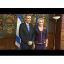 Prime Minister Viorica Dancila welcomes Minister of Tourism of the State of Israel, Yariv Levin at Victoria Palace