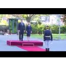 Prime Minister Viorica Dancila receives Croatian counterpart Andrej Plenković at Victoria Palace