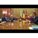 Prime Minister Viorica Dăncilă meets with the Minister of Foreign Affairs of the Polish Republic Jacek Czaputowicz and the Minister of Foreign Affairs of the Turkish Republic Mevlüt Çavuşoğlu and the Romanian Minister of Foreign Affairs Teodor Melescanu