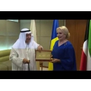 Prime Minister Viorica Dancila meets with the Chairman of the Kuwait Chamber of Commerce and Industry Dr Ali Mohammed Thunayan Al-Ghanim