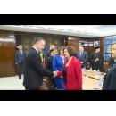 Întrevedere a vicepremierului Mihai Fifor cu o delegație a Parlamentului Republicii Moldova, condusă de vicepreședintele Monica Babuc