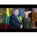 Prime Minister Viorica Dancila meets with Mr. Linas Linkevičius, Minister of Foreign Affairs of the Republic of Lithuania