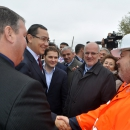 PM Victor Ponta has participated in the opening of the site for DN 29 Botosani – Suceava modernization