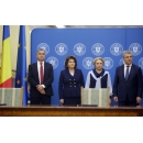 "Prime Minister Viorica Dancila attended the signing ceremony of the project ""Reducing coastal erosion Phase II(...)"