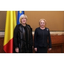 Prime Minister Viorica Dăncilă met with the Commissioner for Human Rights of the Council of Europe (CoE) Dunja(...)