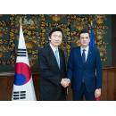 Întâlnirea premierului Sorin Grindeanu cu Yun Byung-se, ministrul afacerilor externe al Republicii Coreea