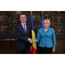 Prime Minister Viorica Dancila welcomed the Minister of Foreign Affairs of the Republic of Latvia, Edgars Rinkēvičs