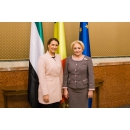 Prime Minister Viorica Dăncilă met with the UAE Minister of State for Food Security Mariam bint Mohammed Saeed Hareb(...)