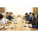 Entrevue du Premier ministre de la Roumanie Viorica Dăncilă avec le cheikh Abdulla Bin Ahmed Al Khalifa