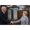 Prime Minister Viorica Dăncilă received the Ambassador of the Federal Republic of Germany to Romania H.E. Cord(...)