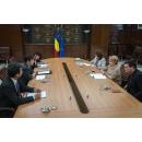 Accueil par le Premier ministre de la Roumanie, Mme Viorica Dăncilă, de l`ambassadeur du Japon en Roumanie, M.(...)