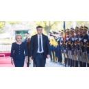 Prime Minister Viorica Dancila received Croatian counterpart Andrej Plenković at Victoria Palace today