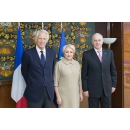 Prime Minister Viorica Dancila welcomed at Victoria Palace the former French Prime Minister Dominique de Villepin