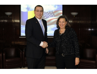 Prime Minister Victor Ponta met at Victoria Palace, the U.S. Assistant Secretary of State for European and Eurasian Affairs, Victoria Nuland