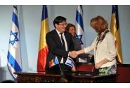Semnare de acorduri între România şi Israel